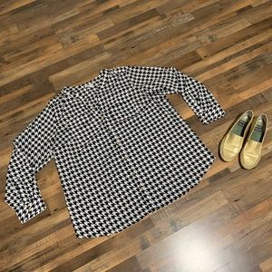 Charter Club Houndstooth Blouse